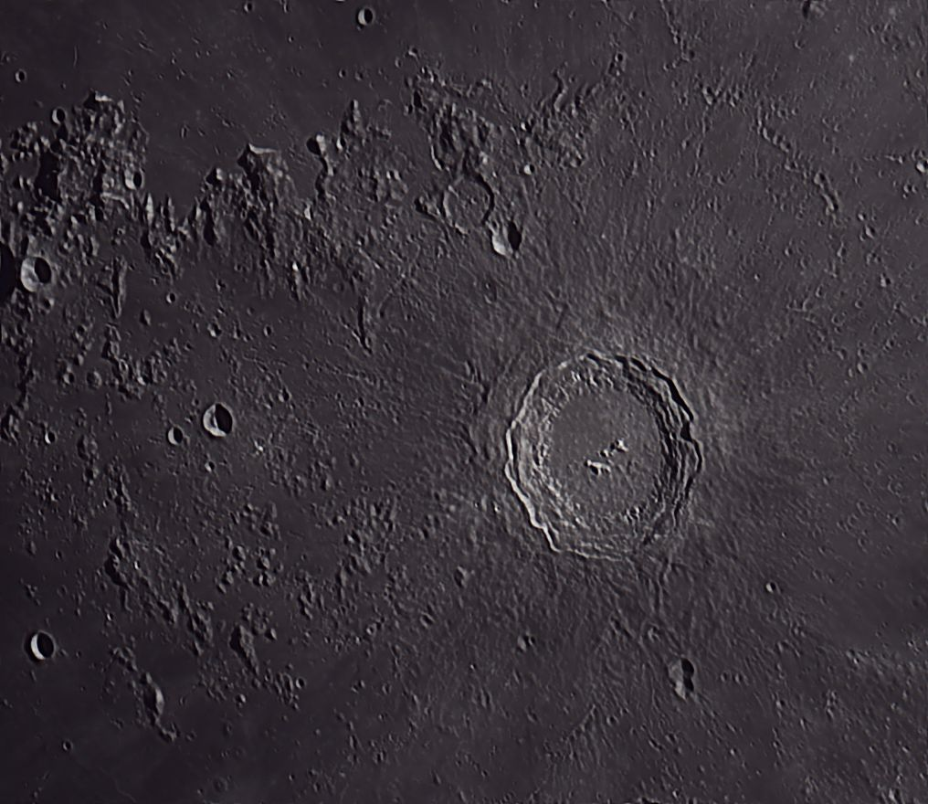 CCD Lunar Image of Archimedes Crater