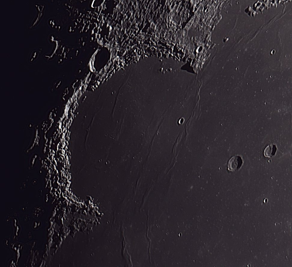 CCD Lunar Image of Mare Imbrium on the Moon